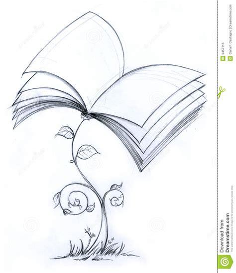 imagenes a blanco y negro de libros pianta del libro illustrazione di stock immagine di libro