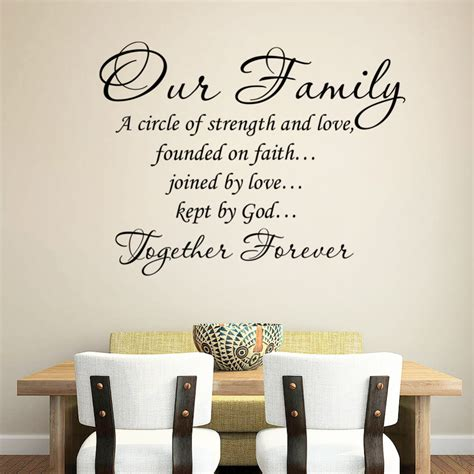 Wall Stickers Words And Phrases our family wedding quotes quotesgram