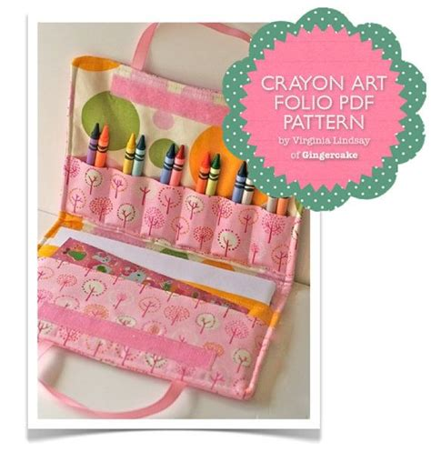 diy pattern holder crayon holder pdf diy sewing pattern and bonus mini crayon