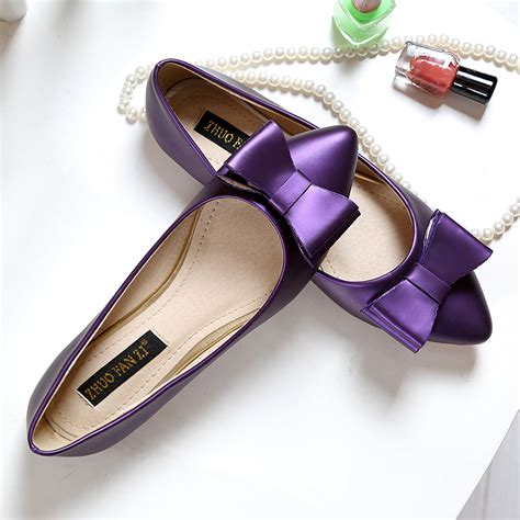 Purple Shoes by Free Shipping New Purple Shoes Pointed Flat Shoes