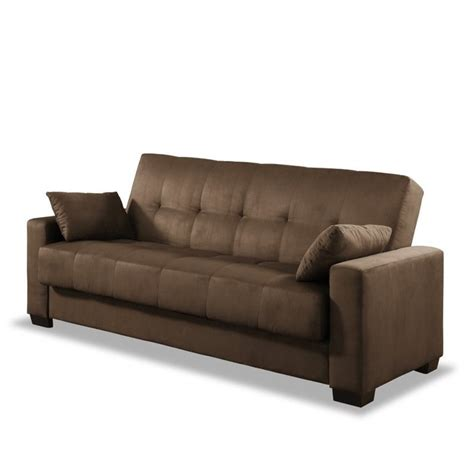 lifestyle solutions napa casual convertible sofa in java
