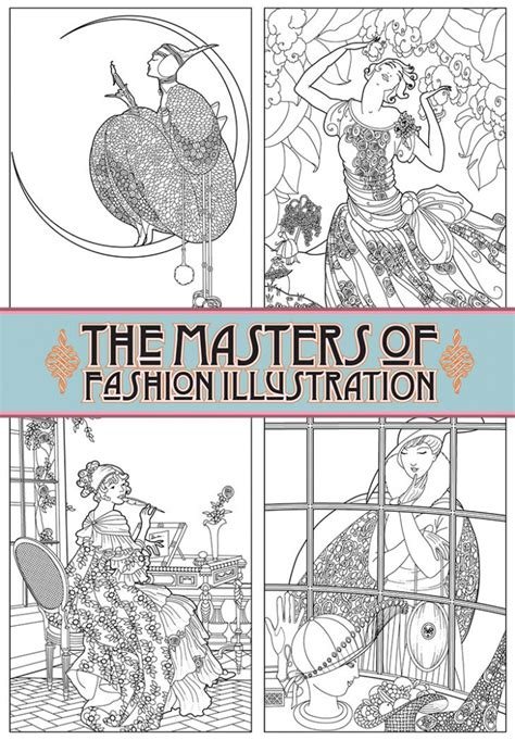 coloring book magazine the masters of fashion illustration coloring book