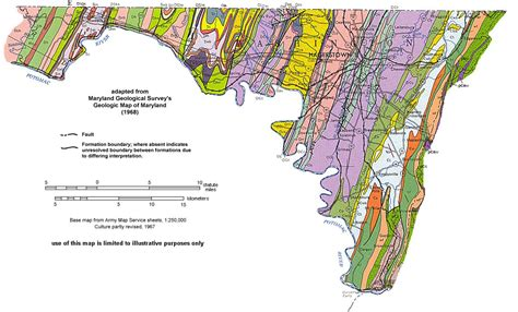 maryland formation map geology of maryland