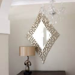Round Foyer Table Gold Diamond Shaped Mirror By Decorative Mirrors Online