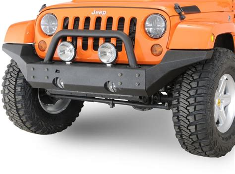 Rugged Ridge Front Bumper rugged ridge 11540 24 rugged ridge xhd front bumper high clearance ends in textured black for