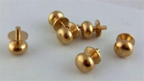Miniature Knobs by Dolls House Miniature Door Furniture 6 Brass Door Knobs