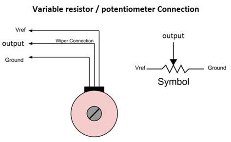 how to connect variable resistor in circuit how to use potentiometer arduino tutorial