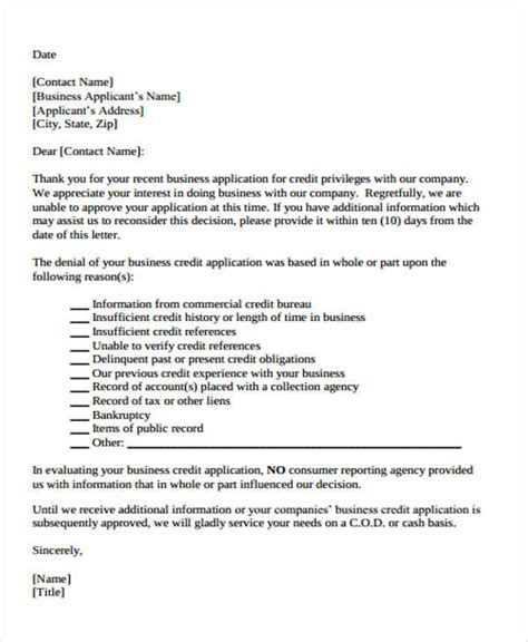 Business Letter Denying Request 38 Business Letter Exles