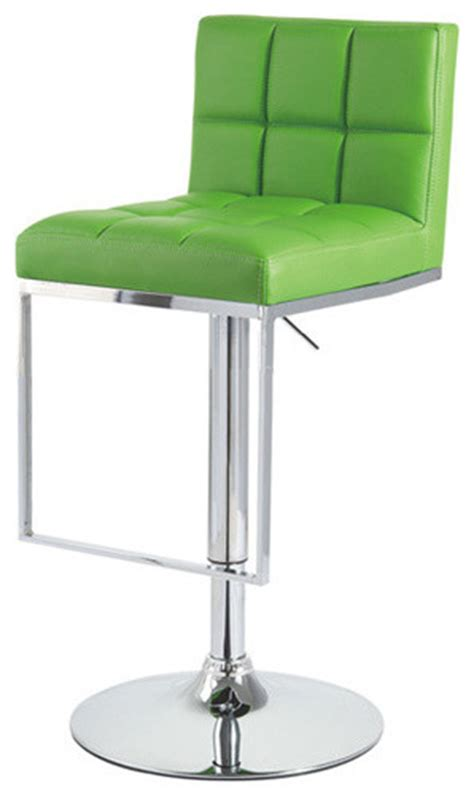 green kitchen stools alex contemporary adjustable barstool lime green