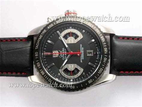 Tag Heuer Calibre 17 Black tag heuer grand calibre 17 working chronograph with black aaa swiss replica