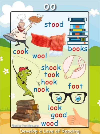 the oo short oo sound phonics poster ideal for phonics