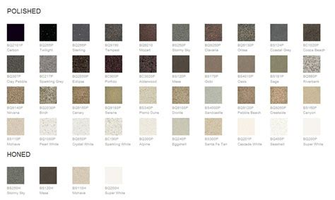 Quartz Countertop Color Chart Donco Designs Is A Pompano Beach