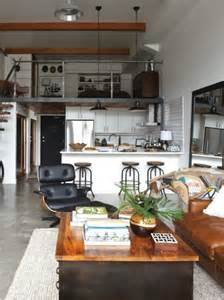 Decorating Ideas Loft Style Apartment Industrial Loft Small Space Studio Apartment