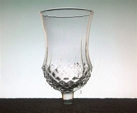home interiors peg votive candle holder clear large