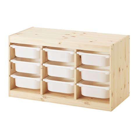 trofast storage combination with boxes light white