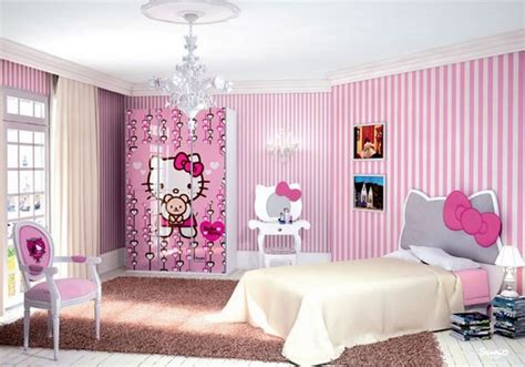 cutest  kitty girls bedroom designs  decorations