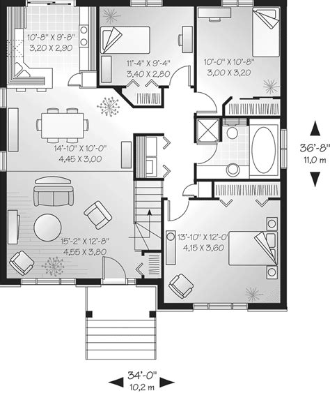 floor plan ideas one storey house designs and floor plans home deco plans