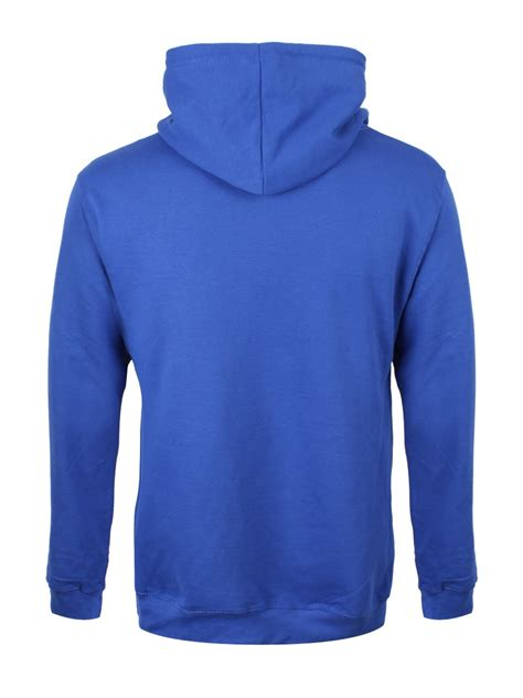 Sweater Zipper U Backfront Logo royal blue zipped hoodie buy at grindstore