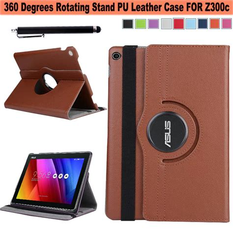 360 degree rotating magnetic synthetic leather stand smart cover for asus zenpad 10 z300 10