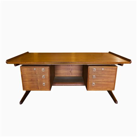 modern executive desk in teak sold at city issue