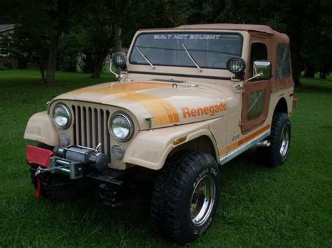 tan jeep renegade sell used 1980 jeep cj7 renegade v8 auto low miles in