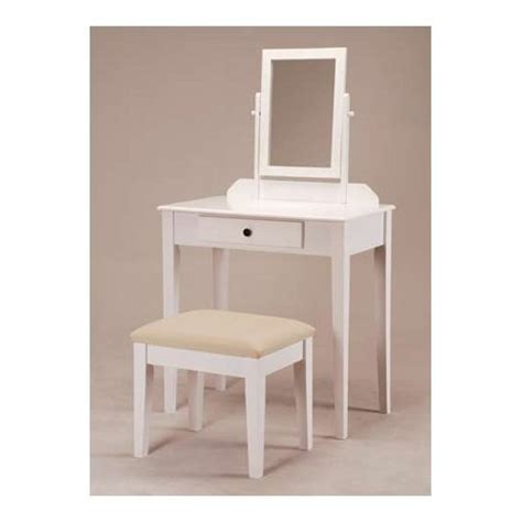 Womens Vanity Table by White Bedroom Vanity Table With Tilt Mirror Cushioned Bench