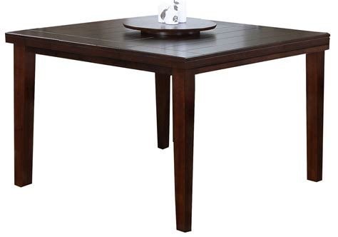 oak pub dining table with lazy susan from monarch