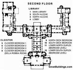 hearst castle floor plan hearst castle san simeon floorplan 2nd floor google