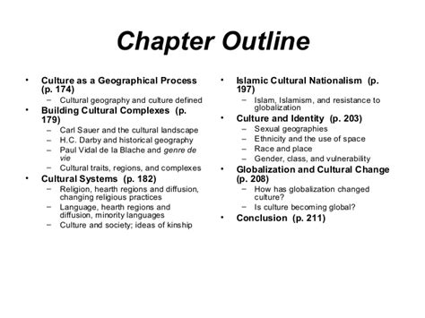 textbook chapter outline template human geography5