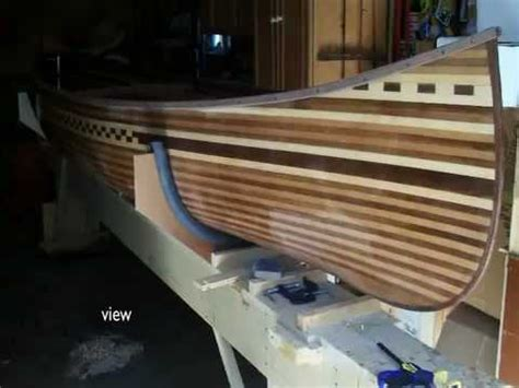 prospector wood strip canoe build   book canoe
