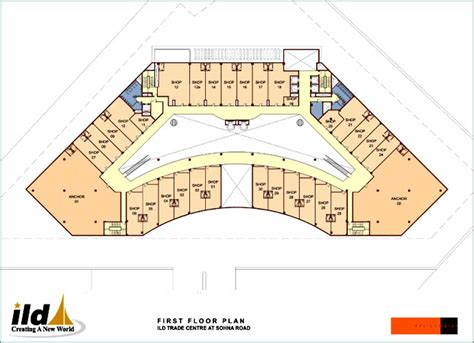 shopping mall floor plan design first floor plan
