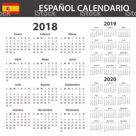 Germany Calendrier 2018 Calendario Espa 241 Ol Para 2018 2019 Y 2020 Plantilla De