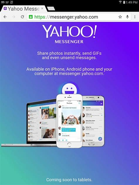 yahoo messenger free for android tablet free ym for android tablet qualitydedal