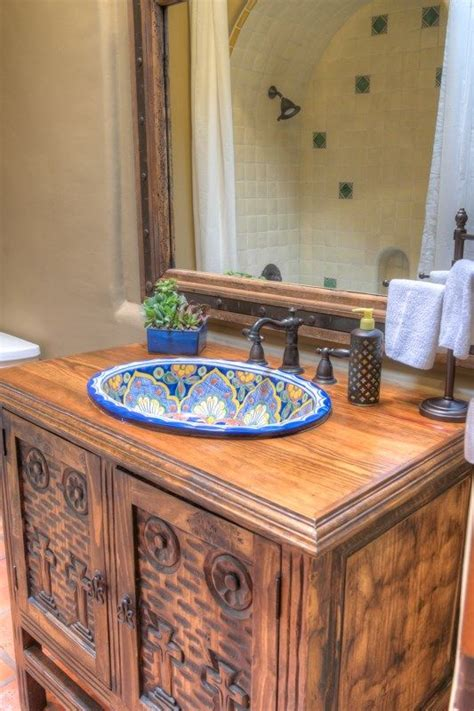 mexican bathroom handpainted mexican sinks guest bathroom ideas pinterest san miguel faucets and