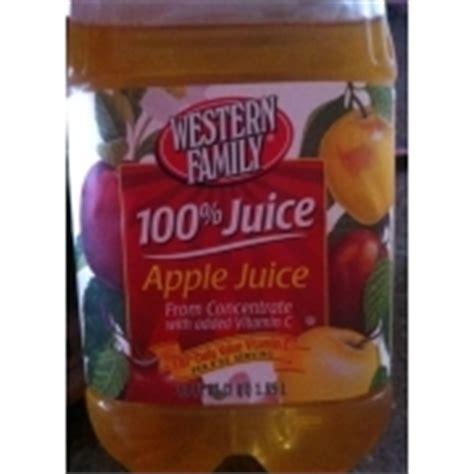apple juice calories western family 100 apple juice calories nutrition