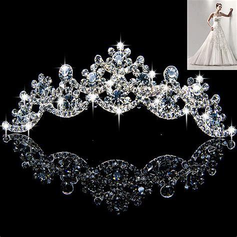 Princess Wedding Crown new wedding prom bridal bridesmaid veil tiara crown princess pageant u ebay