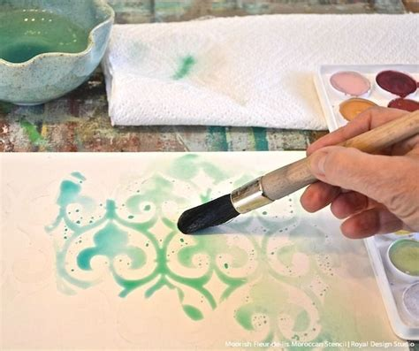 watercolor pattern tutorial love this idea stencil with wax to make a wax resist