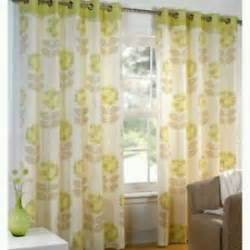 Beige And Green Curtains Sundour Debenhams Maisy Eyelet Curtains 117x229 Green Beige Ebay