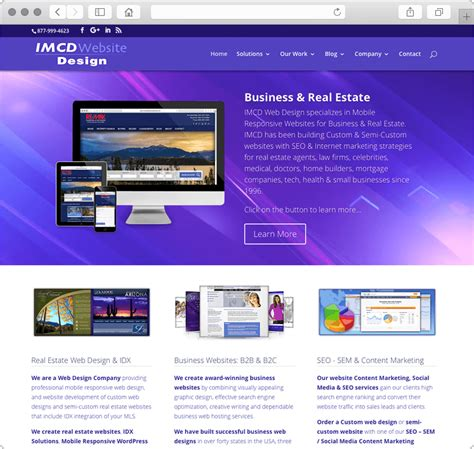 home web design business web design company business real estate websites