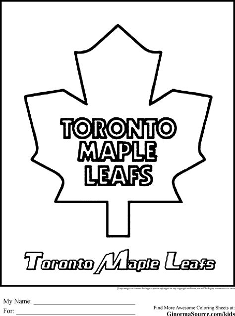 toronto maple leafs coloring pages kids coloring