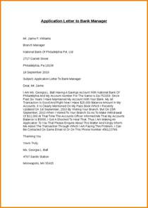 Sle Complaint Letter To The Bank Manager Sle Application Letter To A Bank 28 Images 8 Statement And Request Resume Pictures 10