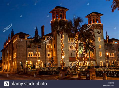 christmas lights decorate the lightner museum in st