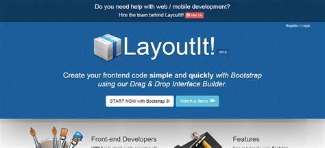 layoutit css 15 bootstrap frameworks for developers