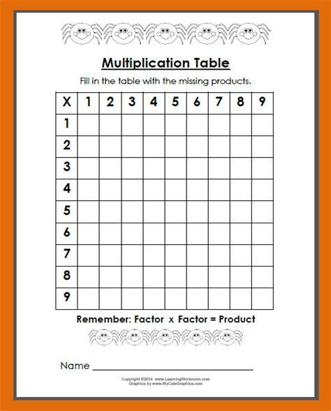 printable blank multiplication table 0 12 blank multiplication table worksheet 0 12 7 best images