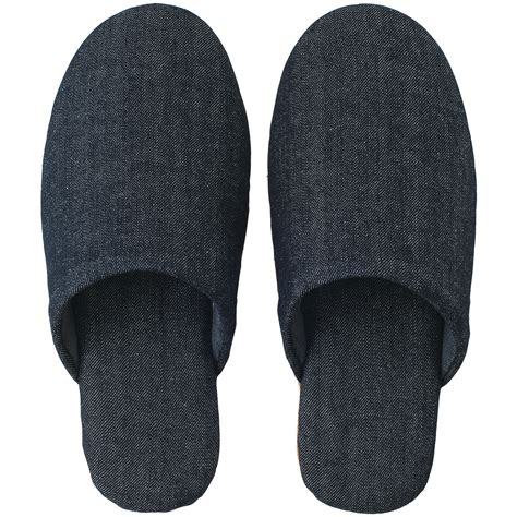 denim slippers cotton denim cushion slipper m navy m23 5 25cm muji