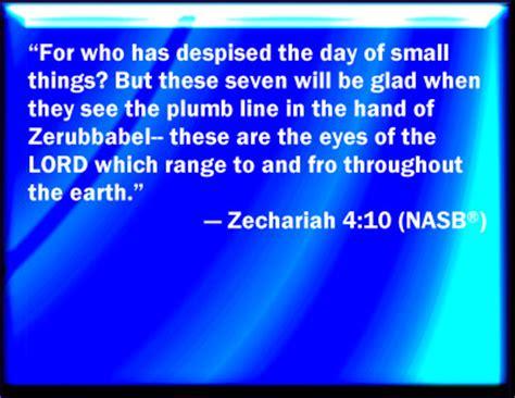 Plumb Line Bible Verse by Bible Verse Powerpoint Slides For Zechariah 4 10