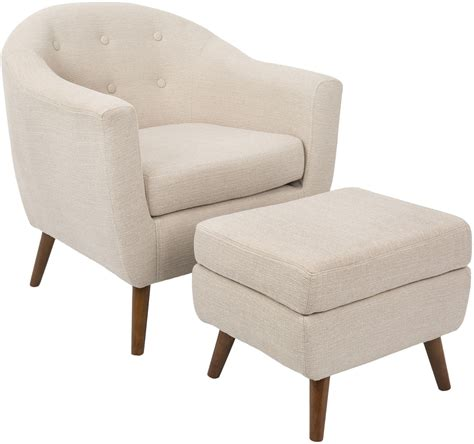 beige chair and ottoman rockwell beige accent chair and ottoman from lumisource
