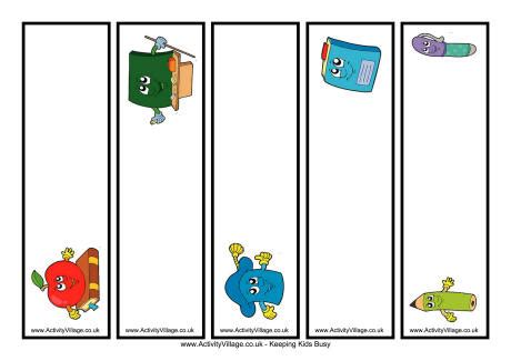 printable bookmarks activity village school bookmark printable