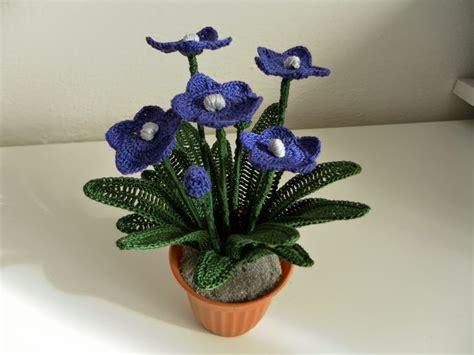 Bouket Bunga Rajut il di sam spiegazione canula azzurra all uncinetto flower bouquet crochet