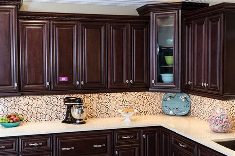 Chocolate Kitchen Cabinets Palm Chocolate Kitchen Cabinets Traditional Kitchen Baltimore By Cabinets To Go